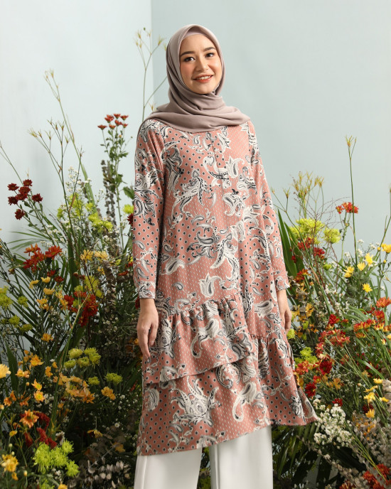 CASSIA TUNIC IN DUSTY CHEDDAR SIZE M